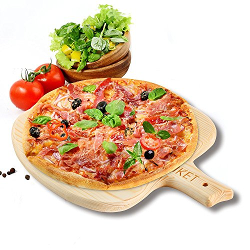 IKET 7inch / 8inch / 9inch Wood Pizza Peel /Pizza tray /Pizza Pan (Extra Small Plate Hanger compare prices)