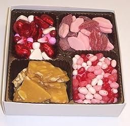 Scott\'s Cakes Large 4-Pack Smoochie Lips, Valentine Mix, Valentine Beans, & Peanut Brittle