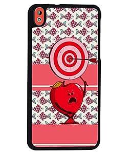 Fuson 2D Printed Love Designer back case cover for HTC Desire 816 - D4436