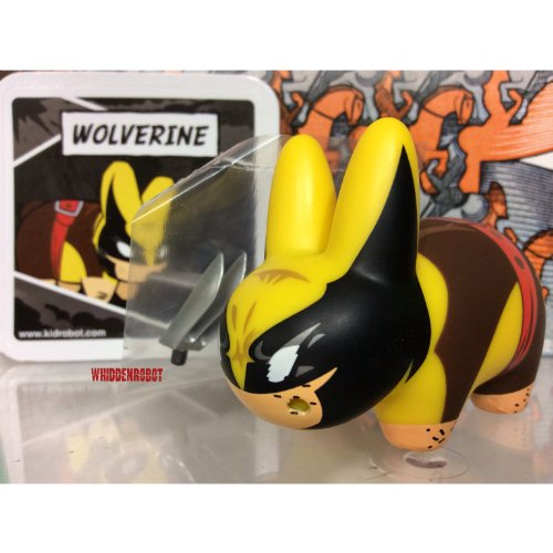 "Kidrobot Marvel Labbit Mini Series 2 Wolverine 2.5"" Vinyl Figure (Opened to Identify) - 1"