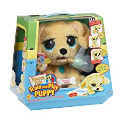 stuffed dog that drinks and wets