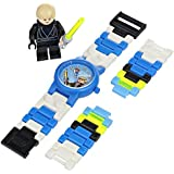 LEGO Kids' 8020356 Star Wars Luke Skywalker Plastic Watch with Link Bracelet and Figurine