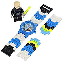 LEGO Kids\' 9002892 Star Wars Luke Skywalker Plastic Watch with Link Bracelet and Minifigure