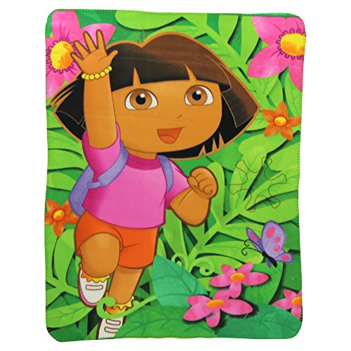 Kids Favorite Character Fleece Blanket (Dora Jungle) - 1