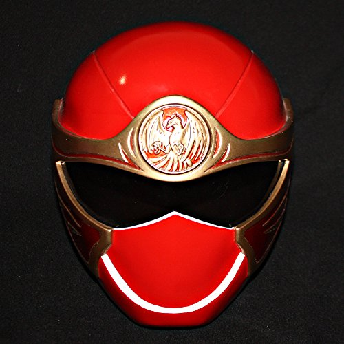 Halloween Costume Power Ranger Helmet Mask Red HURRICANGER NINJA STORM PR13