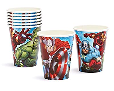 American Greetings Marvel Avengers 9-Ounce Paper Party Cups, Pack of 8, Party Supplies