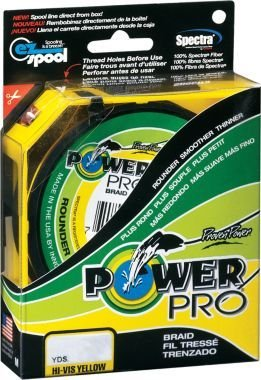 Power Pro 50 lb X300 Yd Spool HiVis Yellow Braided line (Power Pro 50 compare prices)
