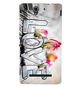 PRINTSHOPPII LOVE Back Case Cover for Sony Xperia C3 Dual D2502::Sony Xperia C3 D2533