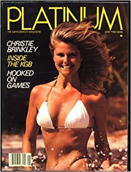Platinum Magazine Christie Brinkley Swimsuit Pin-Up cover