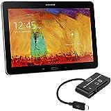 kwmobile 3in1 Micro USB OTG Kabel Adapter für Samsung Galaxy Note 10.1 P600 Edition 2014 - Card Reader Tablet Kartenleser Anschluss für USB 2.0 / SD Karte / Micro SD Karte in Schwarz