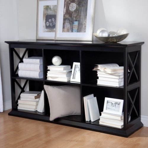 Cheap The Hampton Console Table Stackable Bookcase – Black/Oak (YS090407008-BC)