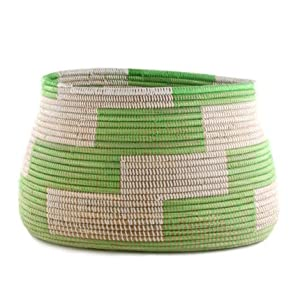 Woven Storage Basket - Green - Fair Trade