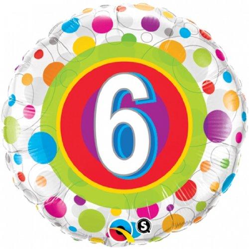 Age 6 Colourful Dots Foil Balloon