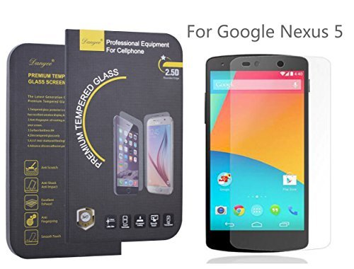 LG Google Nexus 5 Screen Protector,Danyee LIFETIME WARRANTY 0.3mm 2.5d for Google Nexus 5 Ultra-thin Tempered Glass Screen Protector for Google Nexus 5 with 9h Hardness/anti-scratch/fingerprint Resistant (Nexus 5 Warranty compare prices)