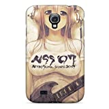 Durable Defender Case For Galaxy S4 Tpu Cover(headphone Anime Girl)