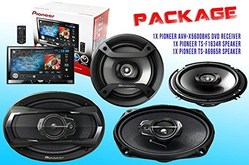 Package ! Pioneer Avh-X5600Bhs Dvd Receiver + Pioneer Ts-A6965R Car Speaker + Pioneer Ts-F1634R Car Speakers