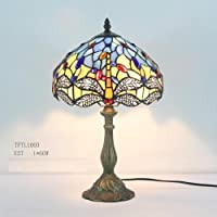 Beautiful Dragonfly Design with Clear Jewels effect Glass Tiffany Style Table Lamp