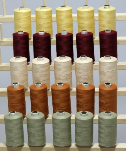 New ThreadsRus 25 Large Spools of 3-PLY Polyester Sewing Quilting Serger threads SP2 by THREADSRUS