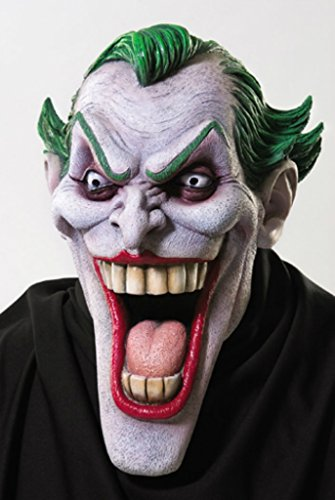 Joker The Dark Knight Rises Supervillain Latex Adult Halloween Costume Mask