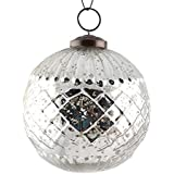 Handmade Silver Round Cut Christmas Hanging Tree Decorations Balls Ornaments IndianShelf