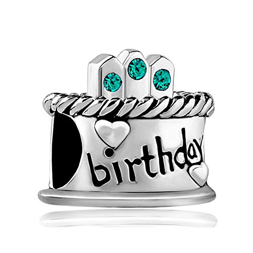 Cake Art Supplies Kiora Mall : Happy Birthday Cake Crystal Candles Gift Bead Fits Charms ...