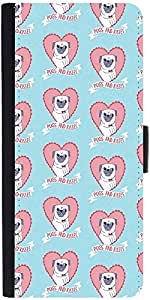 Snoogg Pugs And Kisses Cute Designer Protective Phone Flip Case Cover For Intex Eco 102E