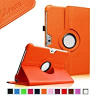 Fintie (Orange) 360 Degrees Rotating Stand Case Cover For Samsung Galaxy Note 10.1 Inch Tablet N8000 N8010 N8013...