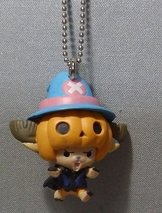 From TV Onepiece ~Helloween Chopper Man 2013~ Figure Keychain ~ Pumpkin chopper~Size39mm~