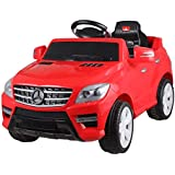 6v Licensed Mercedes ML350 Kids Ride-On/Ride-In Car with Parental Control - Red or White
