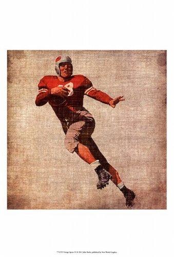 John Butler - Vintage Sports IV Fine Art Print (33.02 x 48.26 cm)