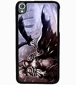 ColourCraft Devil Girl Design Back Case Cover for HTC DESIRE 820