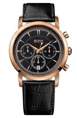 Hugo Boss 1512781 Watch HB1013 Mens - Black Dial Stainless Steel Case Quartz Movement