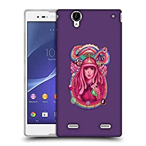 Snoogg Pink Lady Queen Designer Protective Back Case Cover For SONY XPERIA T2 ULTRA
