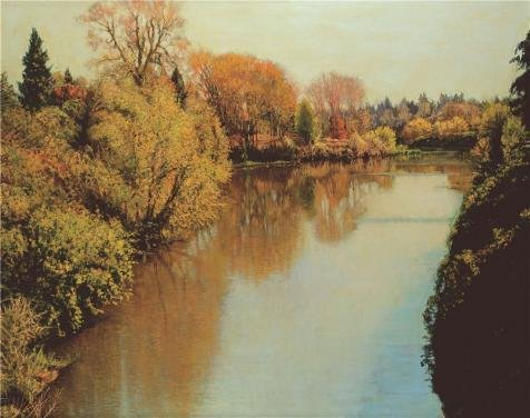 Oil Painting 'Wang Lu,River,2006', 10 x 13 inch / 25 x 32 cm , on High Definition HD canvas prints is for Gifts And Gym, Home Office And Laundry Room Decoration, ideas