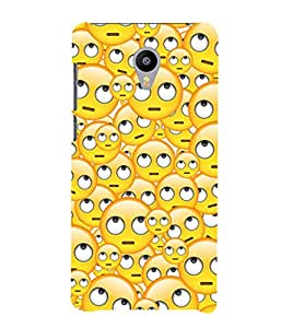 Vizagbeats Shocked Smiley Back Case Cover for MEIZU M2 new model