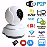 Archeer Wireless WiFi USB Baby Monitor Alarm Home Security IP Camera HD 720P Two Way Audio Onvif with Night Vision-Upgrade Version