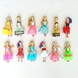 """Barbie Doll Play-set for Barbie Princess Birthday Party Favor and Supplies 6"""" Dolls (12 Ct)"""