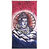 "Dolls Of India ""Lord Shiva"" Batik Painting On Cotton Cloth - Unframed (45.72 X 86.36 Centimeters)"