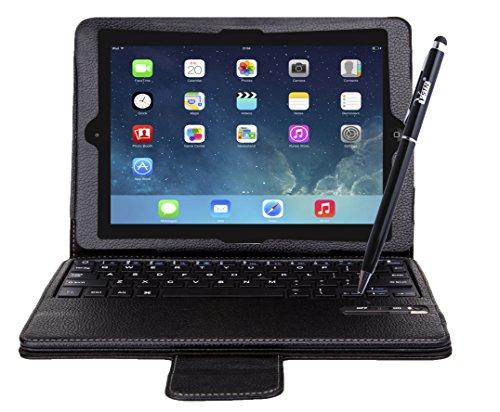 VSTNApple Ipad Air 2 ,ipad air 2 2014専用 脱着式Bluetooth キーボード ケース一体型 良質PUレザーケース付き(Ipad Air 2, ブラック)
