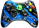 BLUE SPLATTER 5500 + Modded Xbox 360 Controller Hydro Dipped Mod by with Rapid Fire / Jitter / Quick Scope / Sniper Breath / Drop Shot / Jump Shot / Auto Aim / Quick Aim / Burst / Akimbo / Mimic / Adjustable / Adjustable Burst / Auto Burst / Dual Trigger and more! For COD Ghosts / MW1 / MW2 / MW3 / Black Ops 1 / Black Ops 2 / WAW / Gears of War Series / Halo Series / GTA / BF and more! 5000