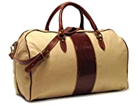 Floto Luggage Venezia Duffle In Canvas and Leather by Floto Imports