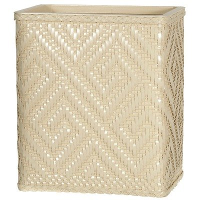 Athena Wastebasket Color: Ecru front-1038532