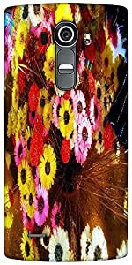 Snoogg Colorful Flowers Background Designer Protective Back Case Cover For LG G4