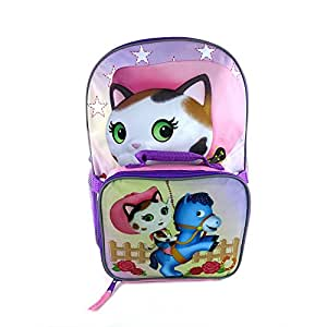 Amazon.com: Sheriff Callie Pink And Violet 16 inch Kids Backpack