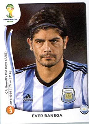 2014 Panini World Cup Soccer Sticker # 423 Éver Banega Team Argentina