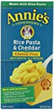 Annies Homegrown Gluten-Free Rice Pasta & Cheddar Mac & Cheese, 6-Ounce Boxes (Pack of 12)