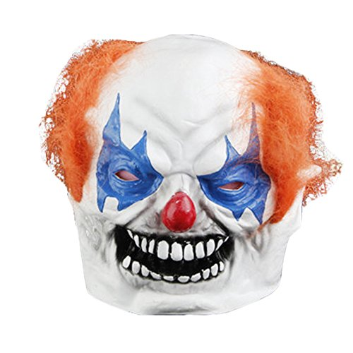 KM Halloween Masks Vinyl Mask Masquerade Masks Scary Devil Clown Mask