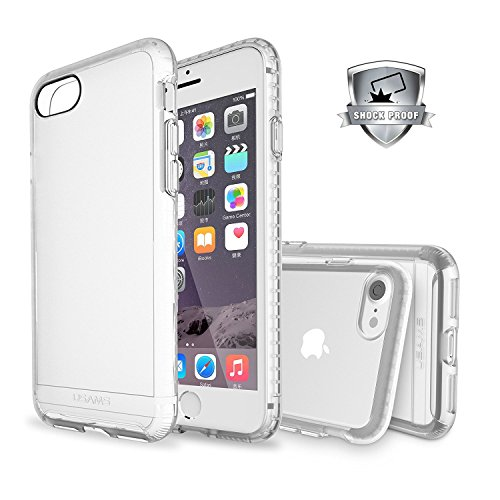 iPhone 7 Case, Jelly Comb Usams Shock Absorbent Case,Ultra Protective Air Cushion TPU Bumper with Dull Polish Back Scratch Resistant Panel for Apple iPhone 7 (Clear)