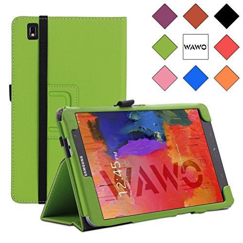 Wawo Creative Smart Cover Folio Case For Samsung Galaxy Tab Pro 8.4 Inch Tablet-Green front-993970