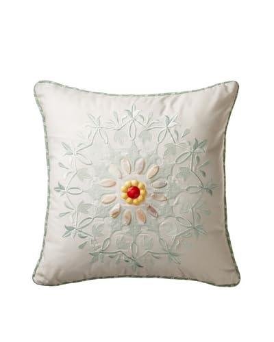 Echo Jaipur Embroidered Pillow, White